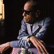 Naguib Mahfouz - Naguib Mahfouz at the Ali Baba Cafe in Cairo, Egypt