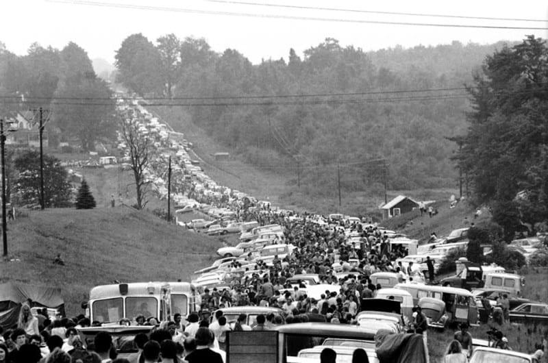 הפקקים לפסטיבל וודסטוק 1969