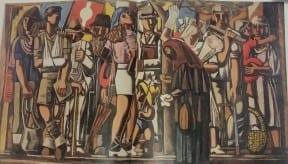 תור לאוטובוס, 1949, יוחנן סימון